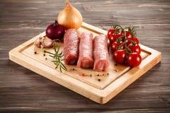 Fresh raw pork. On cutting board Stock Photography