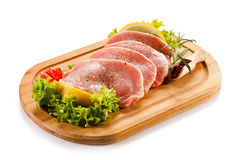 Fresh raw pork. On cutting board Stock Photography