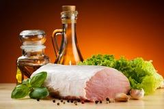 Fresh raw pork on cutting board Stock Photo