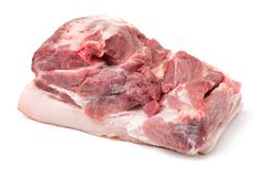 Fresh  Raw pork. On a white background Stock Images