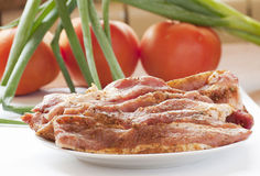Fresh raw pork with fresh, vegetables. Royalty Free Stock Photography