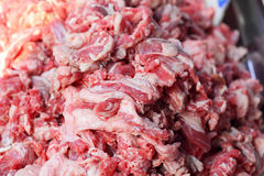 Fresh raw pork in the market.  Royalty Free Stock Photo