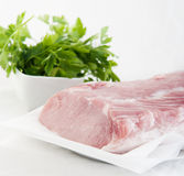 Fresh raw pork meat isolated. On white background Royalty Free Stock Photos