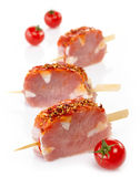 Fresh raw pork meat. With spices for grill Royalty Free Stock Photo