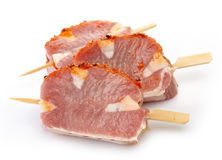 Fresh raw pork meat. With spices for grill Stock Photography