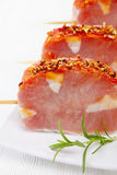 Fresh raw pork meat. With spices for grill Stock Image