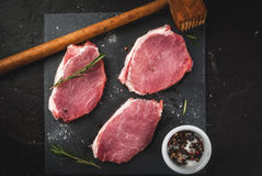 Fresh raw pork, steaks Stock Photography
