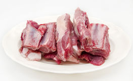 Fresh raw pork. Surrounded by white background Stock Photography