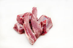 Fresh raw pork. Surrounded by white background Stock Photos