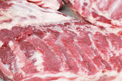 Fresh raw pork textured - in the market Stock Images