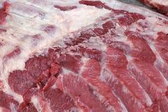 Fresh raw pork textured - in the market. Fresh raw pork  textured - in the market Stock Image