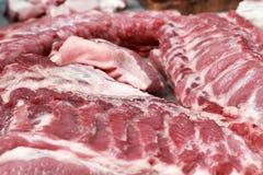 Fresh raw pork textured - in the market. Fresh raw pork  textured - in the market Royalty Free Stock Images