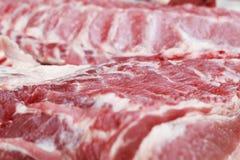 Fresh raw pork textured - in the market.  Stock Photo