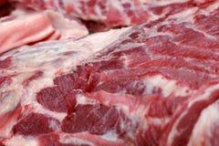 Fresh raw pork textured - in the market.  Royalty Free Stock Photo