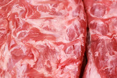 Fresh raw pork textured - in the market.  Royalty Free Stock Images
