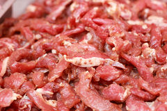 Fresh raw pork textured - in the market.  Stock Photo
