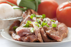 Fresh raw pork with vegetables Stock Photo