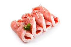 Fresh raw pork. On white background Royalty Free Stock Image