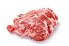 Fresh raw pork. On white background Stock Images
