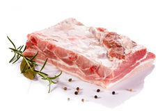 Fresh raw pork. On white background Royalty Free Stock Photography