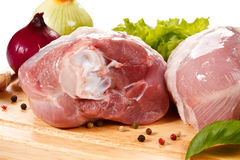 Fresh raw pork Stock Photos