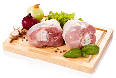 Fresh raw pork Stock Images