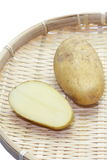Fresh raw potato. Close - up small new and fresh raw potato Royalty Free Stock Photos