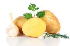 Fresh raw potatoes Royalty Free Stock Image