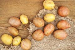 Fresh raw potatoes Stock Photos
