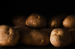 Fresh raw potatoes Royalty Free Stock Photography