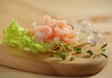 Fresh raw prawns Royalty Free Stock Images