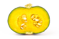 Fresh raw pumpkin. On white background Stock Images
