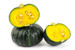 Fresh raw pumpkin. On white background Stock Image