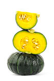 Fresh raw pumpkin. On white background Royalty Free Stock Images