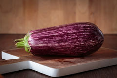 Fresh raw purple eggplants. For an healthy meal Royalty Free Stock Photography