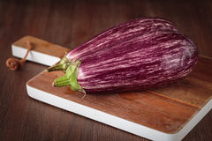 Fresh raw purple eggplants. For an healthy meal Royalty Free Stock Photo