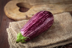 Fresh raw purple eggplants. For an healthy nutrition Royalty Free Stock Photo