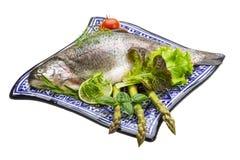 Fresh raw rainbow trout Stock Image