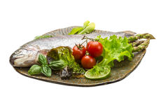 Fresh raw rainbow trout Stock Images