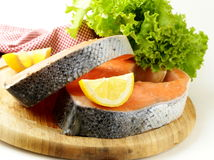 Fresh raw red fish (salmon) Stock Image