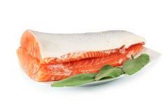 Fresh raw salmon Royalty Free Stock Photo