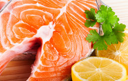 Fresh raw Salmon Royalty Free Stock Images