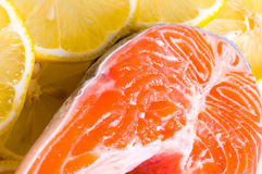 Fresh raw salmon Stock Photo