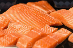 Fresh Raw Salmon.  Royalty Free Stock Images