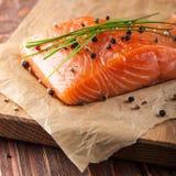 Fresh raw salmon Royalty Free Stock Photography