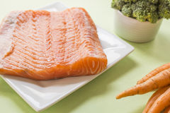 Fresh raw salmon fillet. Close up Royalty Free Stock Images