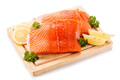 Fresh raw salmon fillet Stock Photography