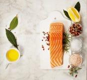 Fresh raw salmon fillet Royalty Free Stock Image
