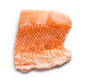 Fresh raw salmon fillet. On white background Stock Image