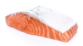 Fresh raw salmon fillet. Isolated on white Stock Photo